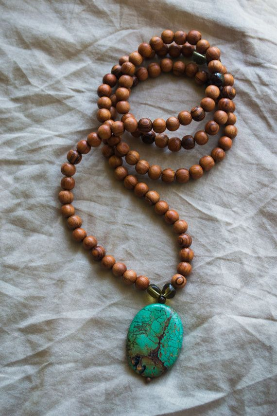 """Bayong wood mala beads #boho #yoga.Japa Mala Buddhist or Hindu prayer beads or """"Japa mala"""" are a traditional tool used to count time while meditating using mantras. They are similar to other forms of prayer beads used in various world religions and to Christianity's Rosary."""