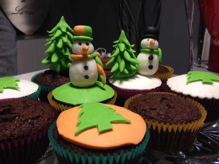 Cupcakes, déco de Noël