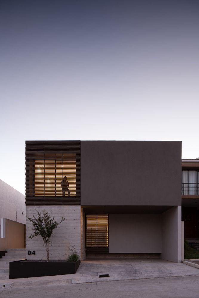 Galería de Casa D-4 / TAI Arquitectos - 9 Minimal Architecture, Amazing Architecture, Facade Design, House Design, Modern House Facades, Modern Minimalist House, Facade House, Home Projects, Minimalism