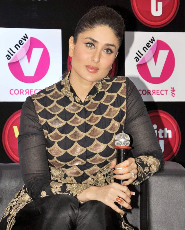 "Kareena Kapoor at the launch of Channel V's ""Vith U"" app for the safety of women. #Fashion #Style #Bollywood #Beauty"