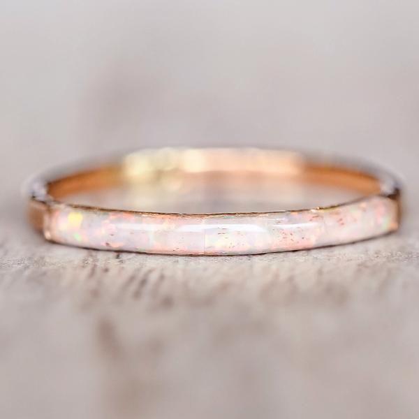 Mermaid Rose Gold Opal Ring