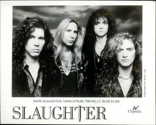 Slaughter. Oh yeah i was 14 & still have my concert shirt.  I was infatuated with the drummer.