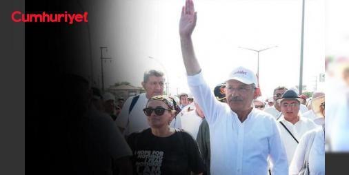 """#Kılıçdaroğlu, Maltepe'de yapılacak mitingde halka vereceği mesajı Cumhuriyet'le paylaştı: CHP Genel Başkanı #Kılıçdaroğlu ile karavanında konuşuyoruz. #Kılıçdaroğlu, """"Biz Türkiye Cumhuriyeti Devleti'nin daha güçlü bir şekilde #Adalete, insan haklarına, özgür medyaya, kadın erkek eşitliğine, güçler ayrılığı ilkesine dayanmasını istiyoruz. Bu yürüyüşün felsefesi de budur"""" diyor."""