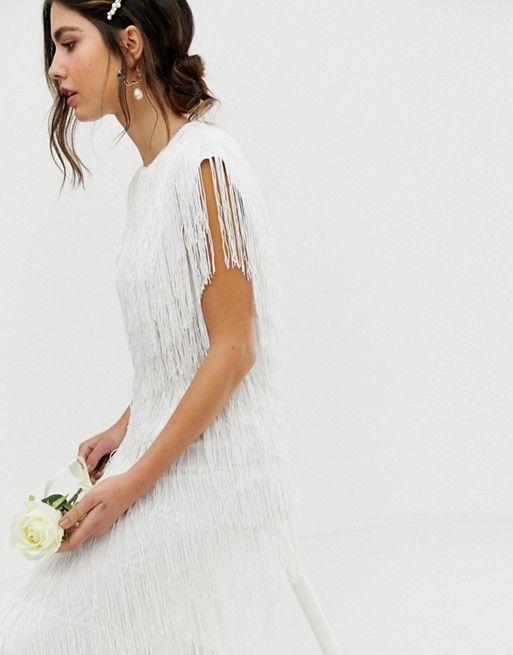 8a6c59293f1bfd EDITION fringe maxi wedding dress in 2019 | Wedding | Wedding ...