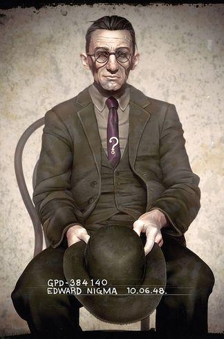 Classic Batman villain mugshots by J.E. Mark   The 30 Very Best Pieces Of Fan Art Of 2013   Riddler