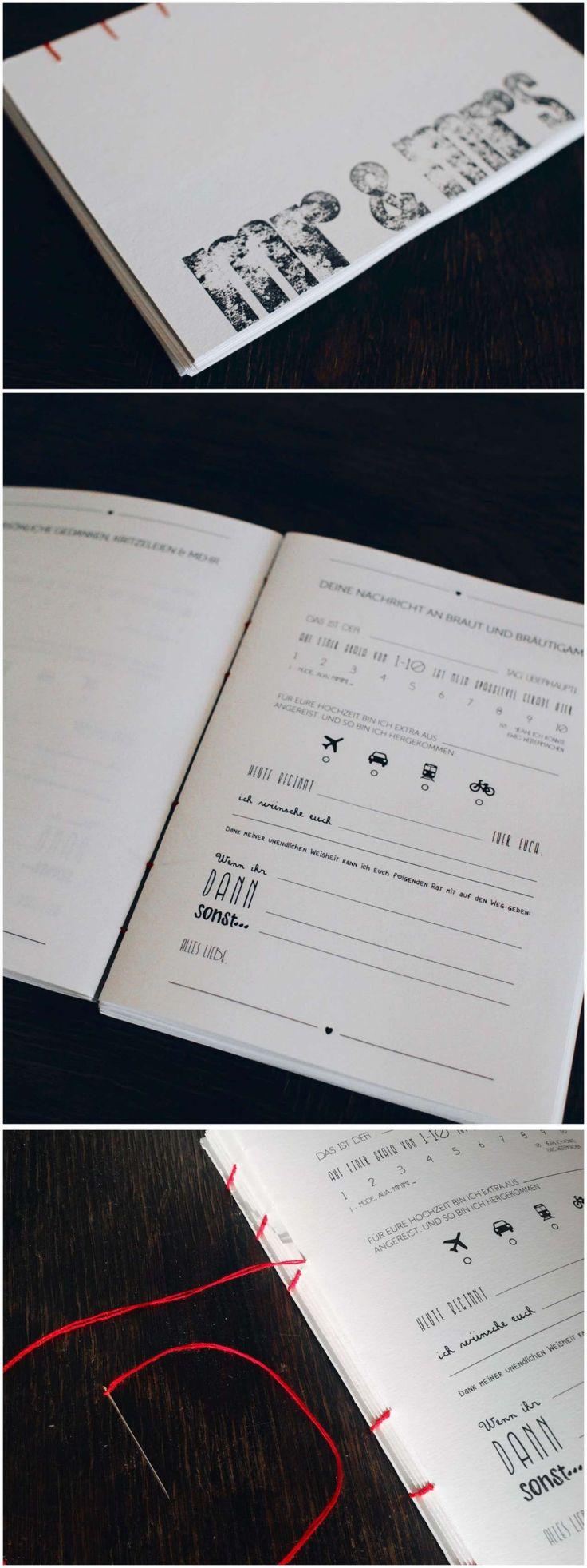 DIY Hochzeit: Gästebuch selbst gestalten und binden – An Bü
