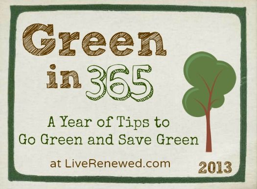 Green in 365 series - tips to go green and save green via liverenewed.com