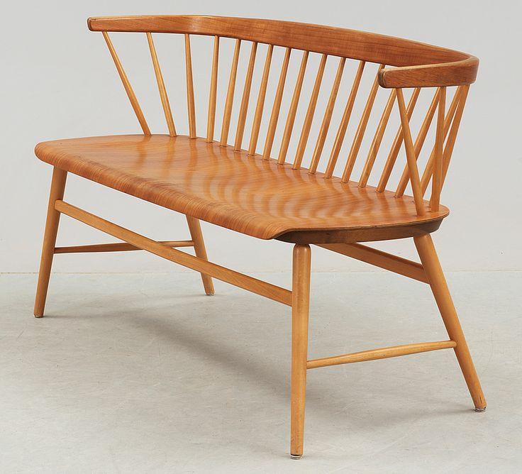 "PINNSOFFA, ""Florett"", AB Bröderna Wigells stolfabrik, omkring 1900-talets mitt."