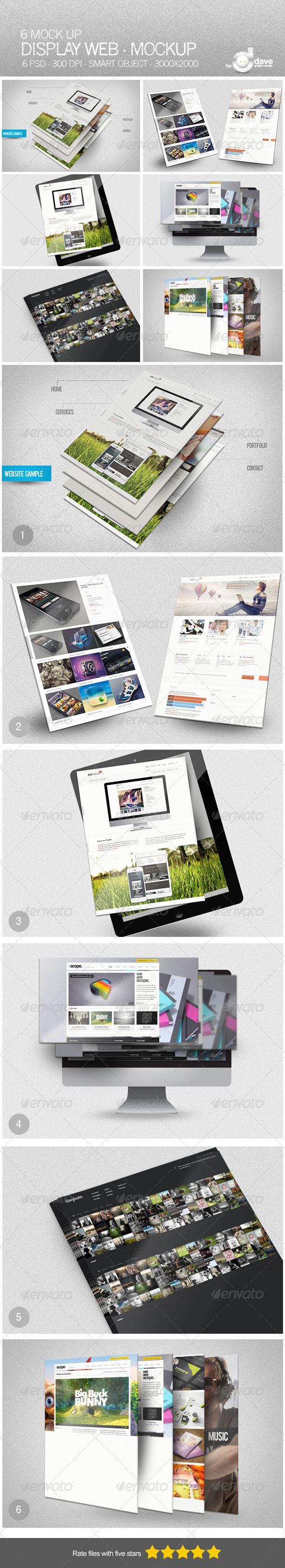 Display Web Mockup Web Mockup Mockup Design Mockup