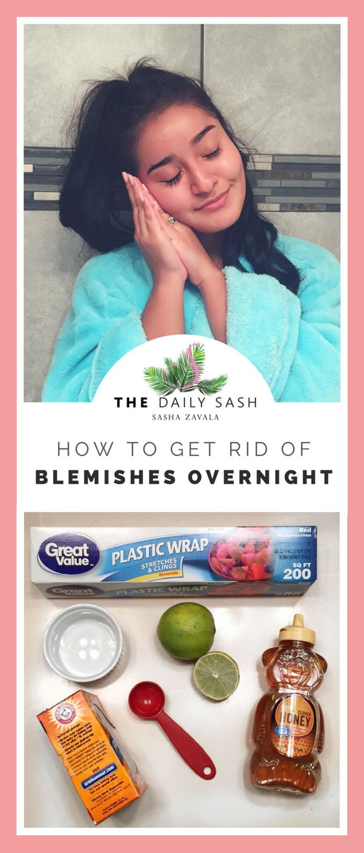 Get rid of blemishes overnight with this DIY face mask!