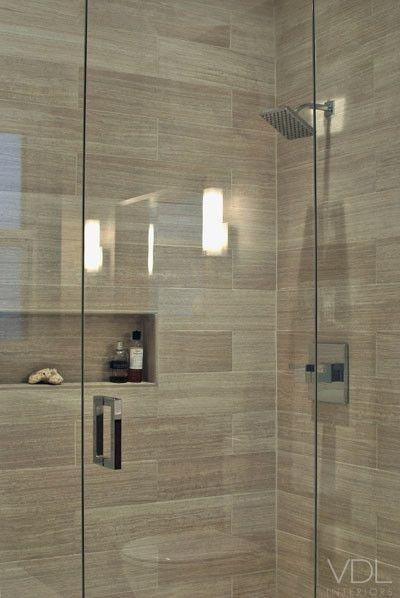 Rustic shower bathroom