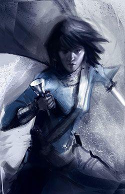 Sabriel - rejected cover illustration number three