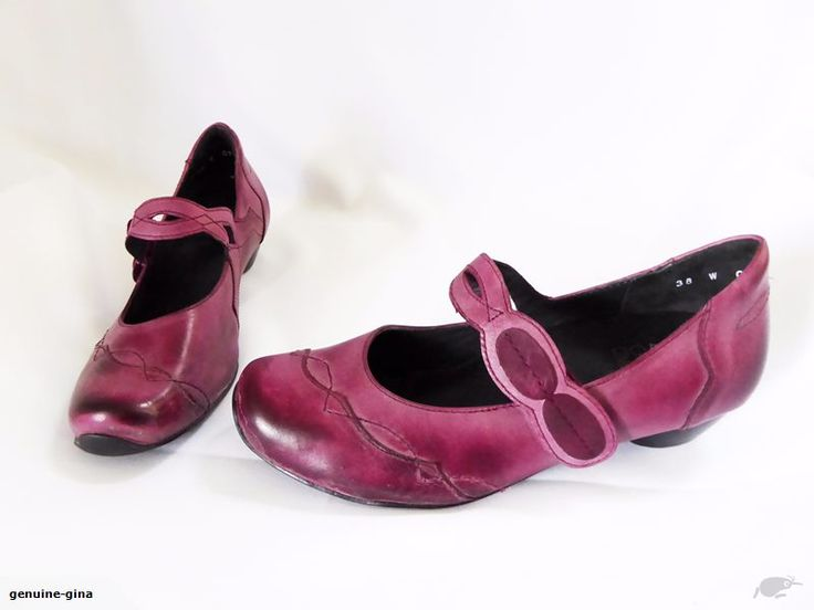 ZIERA purple leather MJ's arch support size 38W