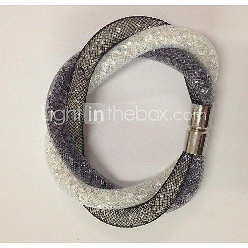2015 Magnetic Stardust Clasp Crystal in Net Mesh Bracelets del 2016 a $2.99