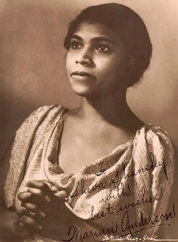 Autographed photo of Marian Anderson