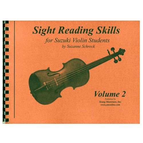 """Sight Reading Skills for Suzuki Violin Students - Volume 2 (Sight Reading Skills For Suzuki Violinist, Volume 2):   Music reading is most easily, and most enjoyably, learned if it is taught when the child is developmentally ready. """"Sight Reading Skills"""" by Suzanne Schreck is for Suzuki violin students. This method of reading is designed to develop the young student's ability to read music. If the melodies are recognizable, Suzuki students will play them by ear, not by sight. An effecti..."""