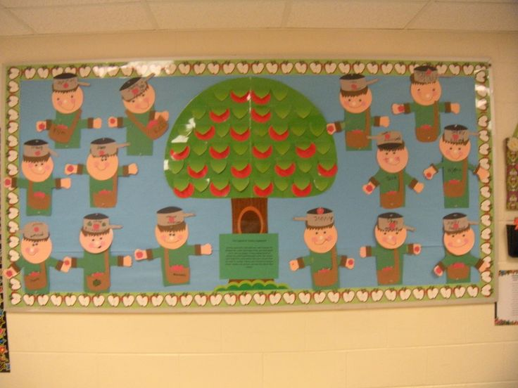 1000 ideas about apple bulletin boards on pinterest for Apple tree classroom decoration