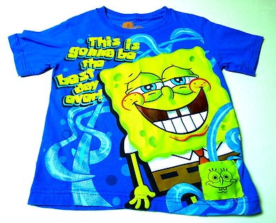 Sponge Bob Square Pants by  Nickelodeon! Push the little square and HE TALKS!  size 4/5  $0.99 Back to School Auction!  BlingBlinky.com: Sponge Bob, Back To School