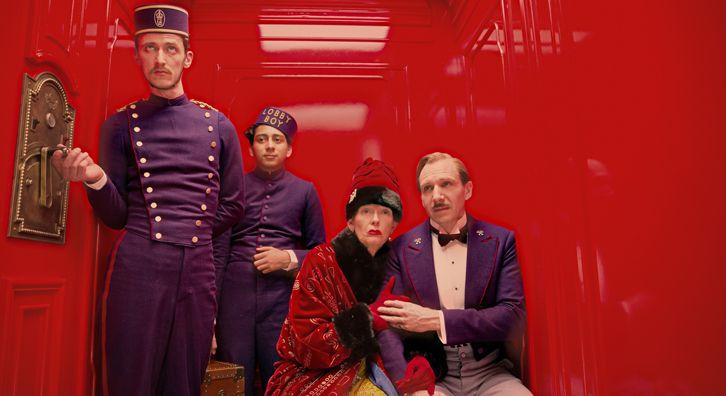 Tony Revolori, Tilda Swinton and Ralph Fiennes in THE GRAND BUDAPEST HOTEL