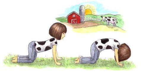 postura de la vaca