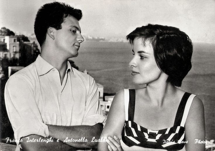 https://flic.kr/p/yttwQG | Franco Interlenghi and Antonella Lualdi | Italian postcard by Bromofoto, Milano, no. 1234. Photo: Italy's News Photos.  On 10 September, Italian actor Franco Interlenghi (1930-2015) has passed away. He was a popular leading man during the 1950s and worked with major directors like De Sica, Fellini, Antonioni, Bolognini and Rossellini. Actress Antonella Lualdi was his wife.