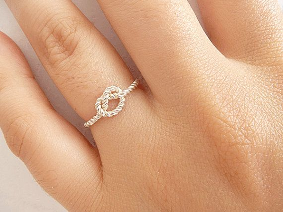 Sterling Silver Knot Ring  Bridesmaid Ring  Tie the by ArizJewels, $16.00