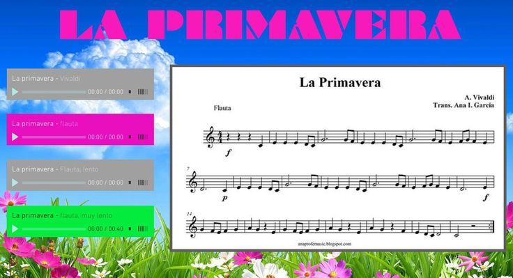 La Primavera de Vivaldi | Partituras para clase