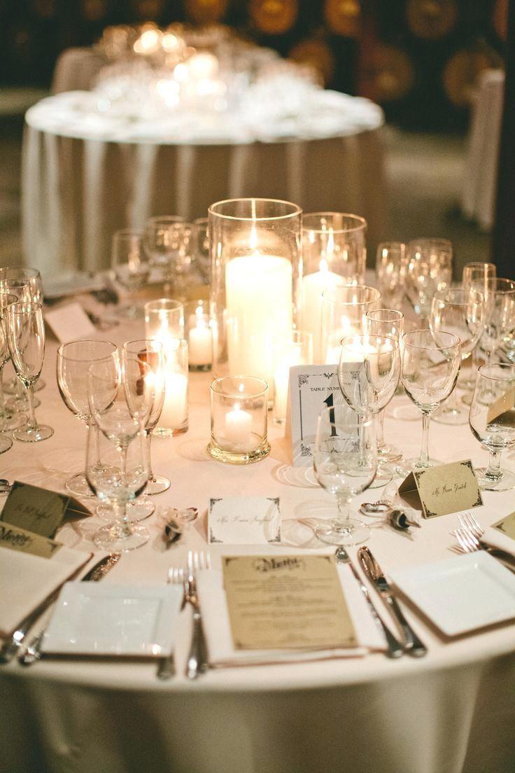 Simple Wedding Table Decor Ideas Candles Perfect Centerpieces