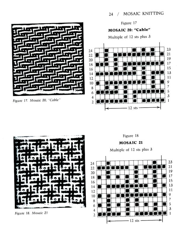 Mosaic Knitting Barbara G. Walker (Lenivii gakkard) #29