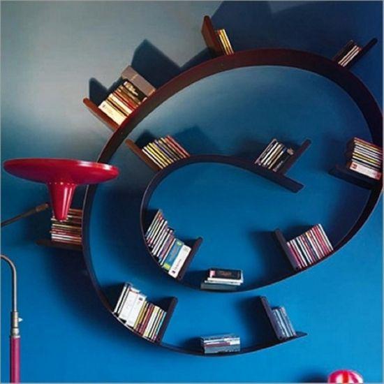 Unkonventionelle Bücherregal Designs dienen als Akzent im ...