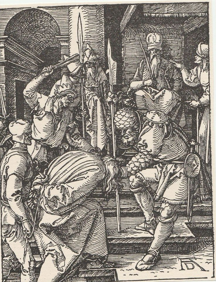 Christ before Annas - Small Passions - Woodcut Engraving After Albrecht Durer #Impressionism