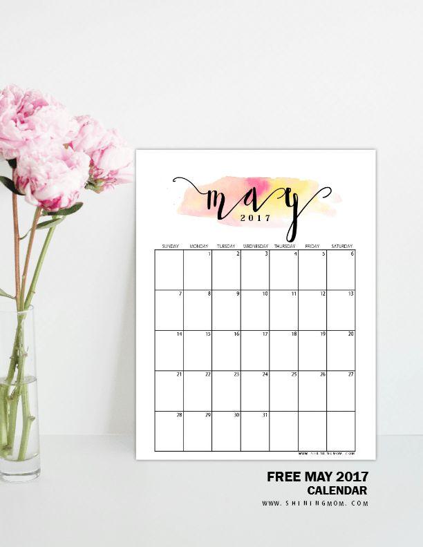 127 Best Free Printable 2017 Calendars By Shining Mom Blog
