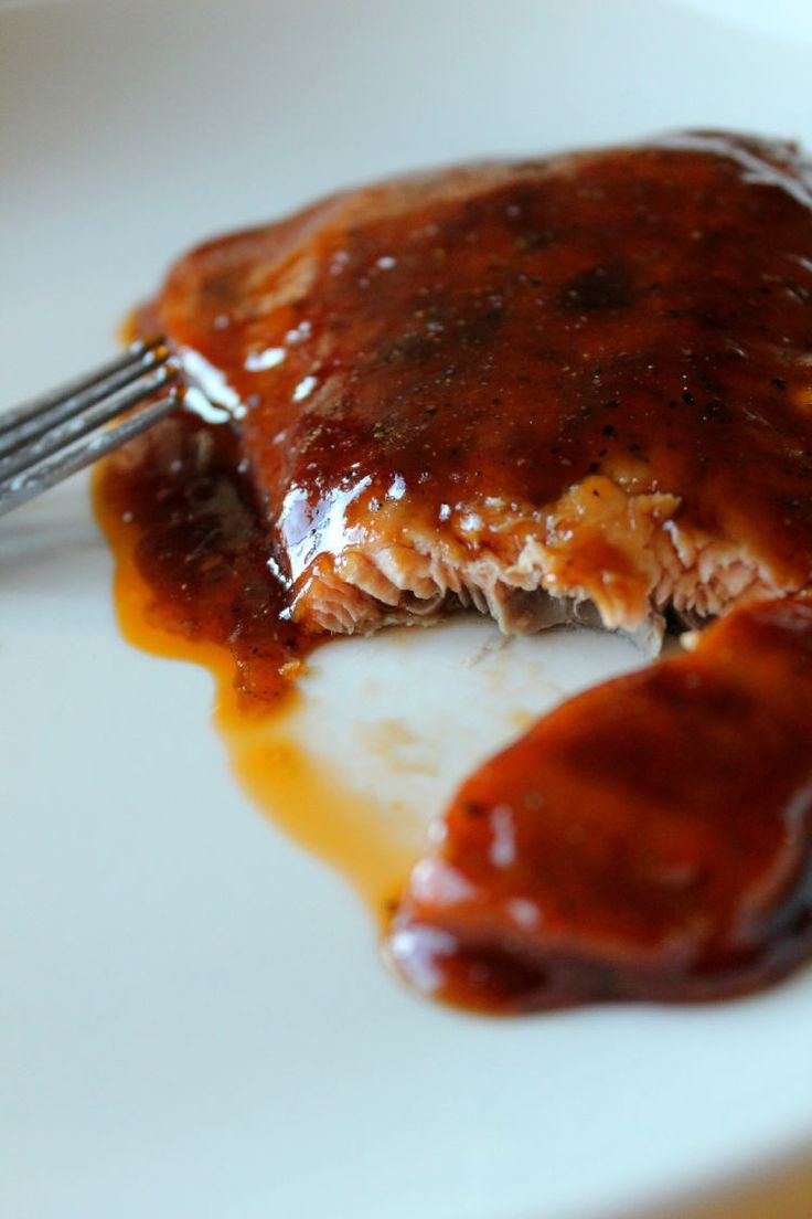 This Maple BBQ Glazed Salmon from Averie Cooks is HEAVEN on Earth... and easy to boot! OR MOLASSES GARLIC LEMON RIND