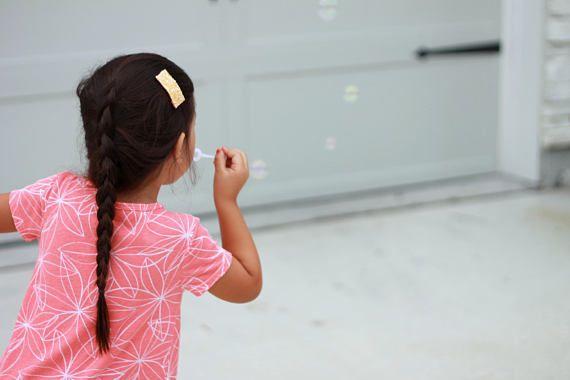 Orange Glitter Leather Snap Hair Clip on Etsy EandEDesignsLLC