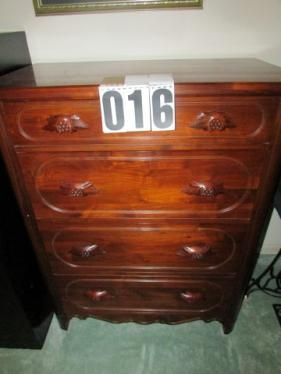 Davis Cabinet C. 4 Drawer Cherry Chest   SOLD! Antique FurnitureWasherMurfreesboro  TennesseeDryerCherryAppliancesAuctionCabinetSeptember