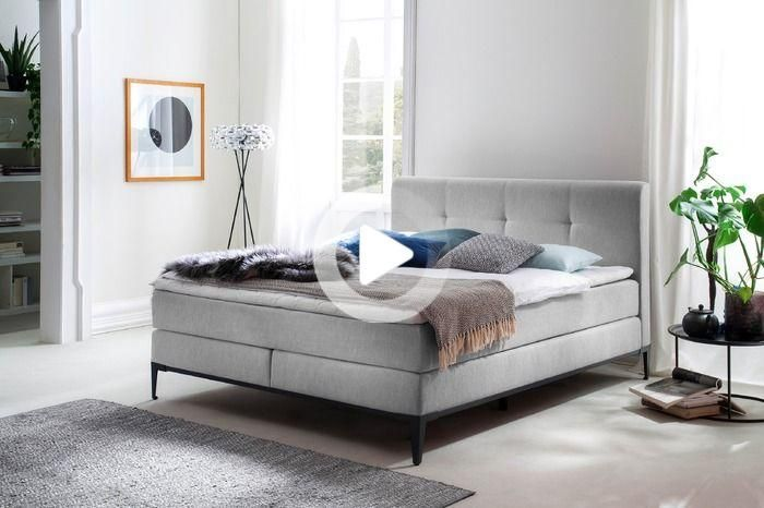 meise moebel sommier tapissier modern life 180 x 200 cm tissu gris