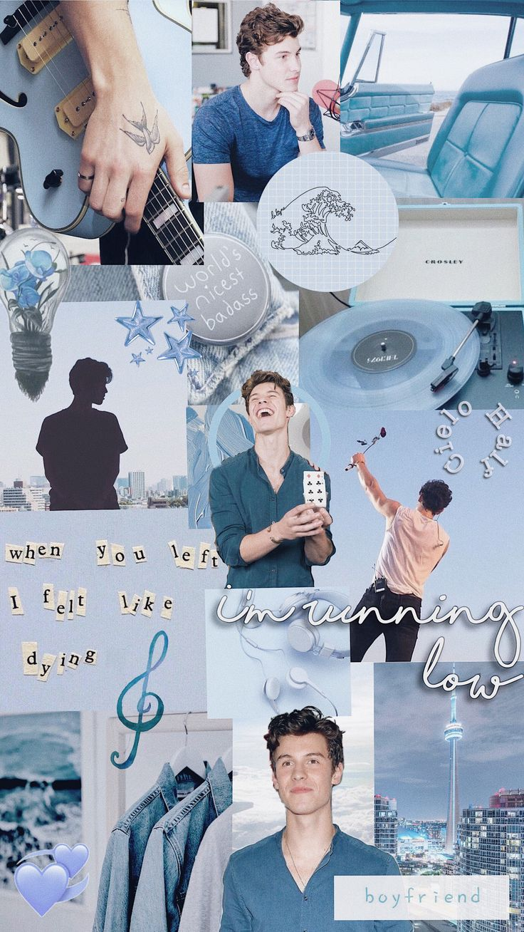 Shawn Mendes aesthetic wallpaper blue Shawn mendes