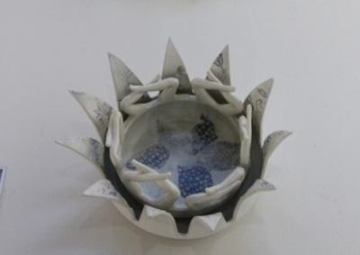 Michaela Kloeckner     Lotus Serving Dishes     Porcelaineous Stoneware     Set of 2