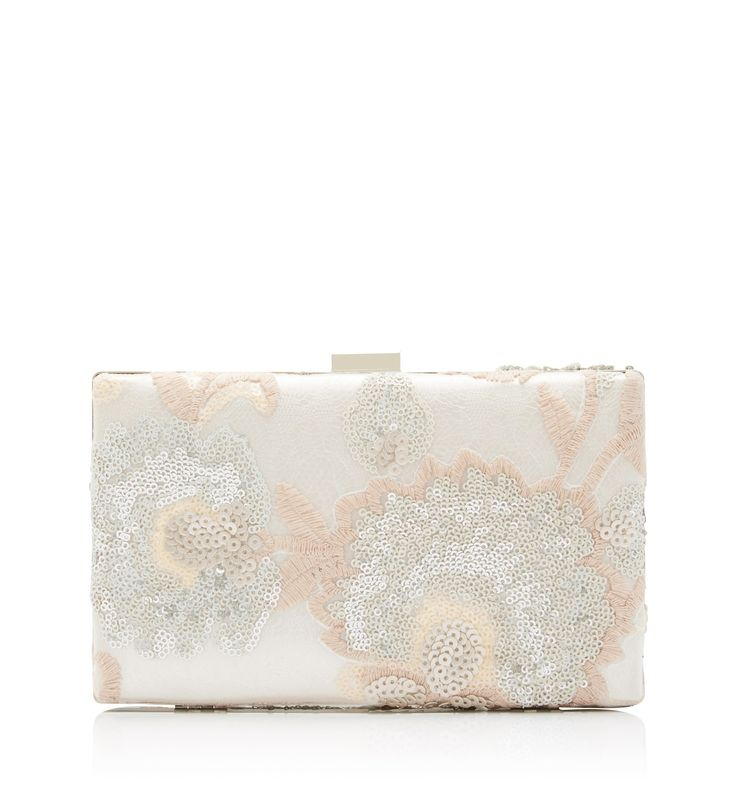 Carrie Clutch Bag Blush Sequin - Womens Fashion | Forever New