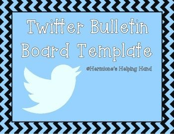 Create a trendy Twitter themed bulletin board that your students can actively participate in!