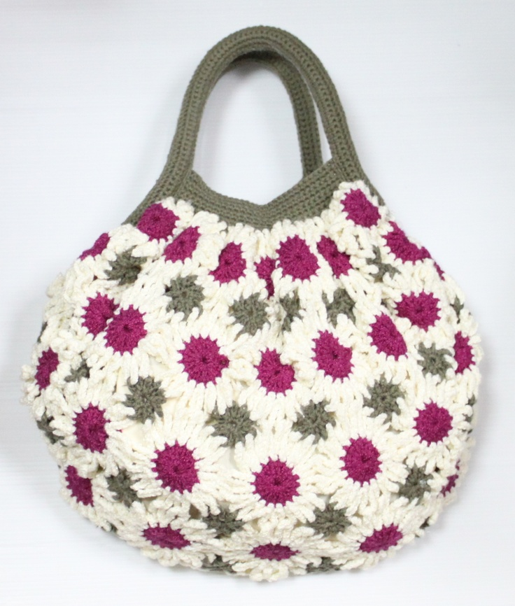 Flower Crochet Bag : FLOWER CROCHET BAG Craft Ideas Pinterest