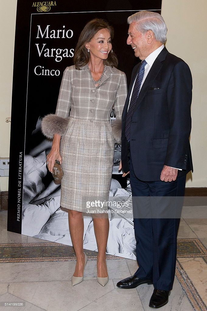 Isabel Preysler and Mario Vargas Llosa attend 'Cinco Esquinas' presentation at Circulo de Bellas Artes on March 7, 2016 in Madrid, Spain.