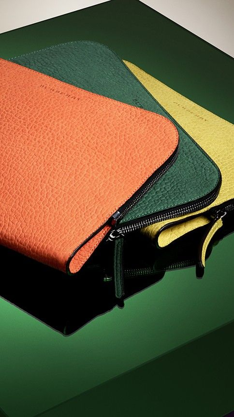 Bold document holders crafted from soft nubuck leather from the Burberry S/S13 accessories collection