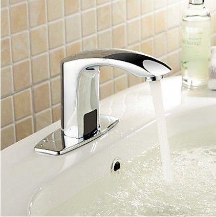4 robinet évier en laiton pouces salle de bain avec capteur automatique (à froid) F0102