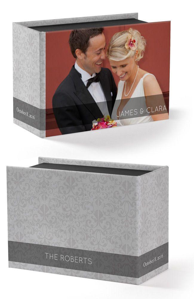 For trinkets, treasures, tokens, and more! Custom printed keepsake boxes designed by Studio Style. {Featured: Brocade Pattern Printed Keepsake Box}