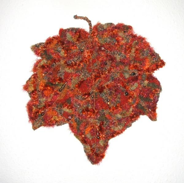 "Freeform crochet maple leaf by Chris Cantrelle - 15"" x 15"", held firm by wire at the back.: Held Firming, Fabulously Freeform, Crochet Misc, Crochet Maple, Crochet Picks, Leaf, Freeform Crochet, Fiber Art, Chris Cantrell"