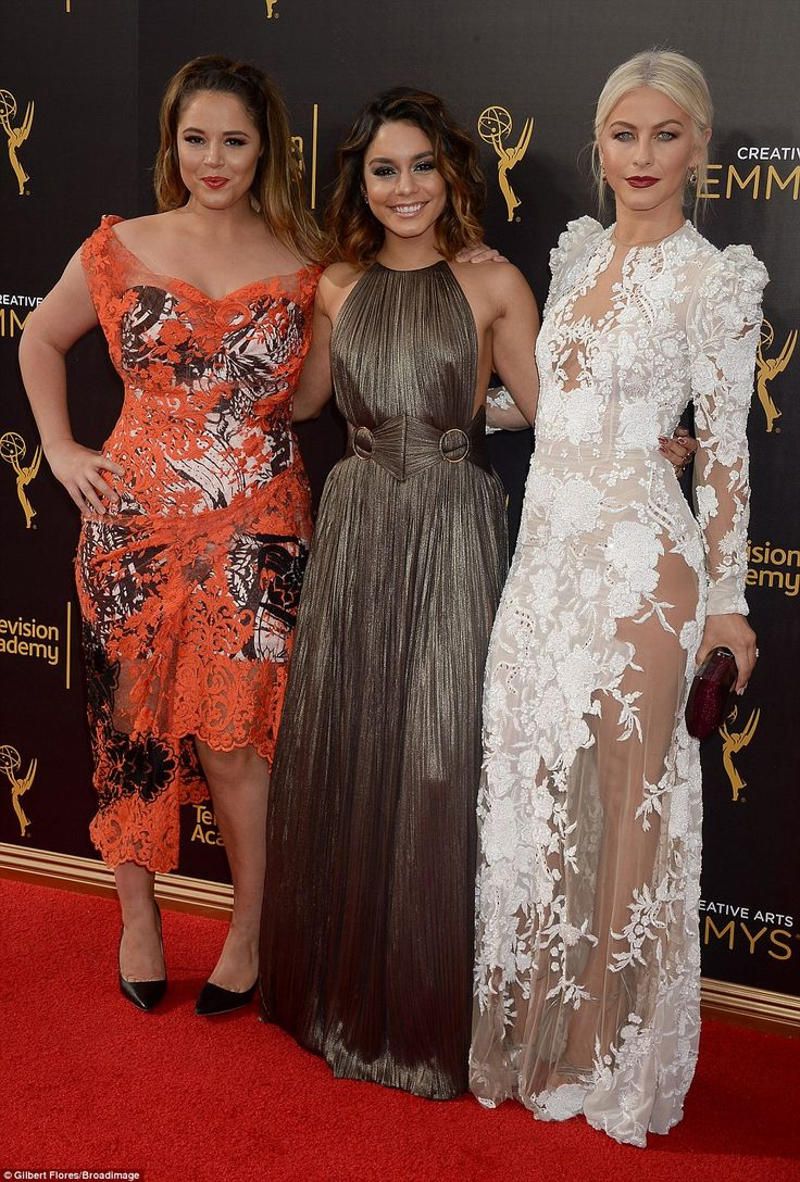 Colleagues: Three Grease: Live co-stars, (from left) Kether Donohue, Hudgens and Hough posed together for the cameras