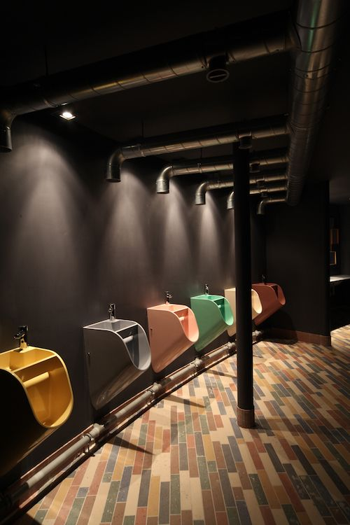 Colourful urinals