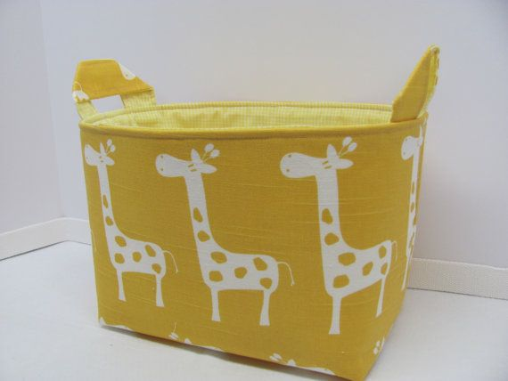 LARGE Fabric Organizer Basket Storage Container by hipbabyboutique