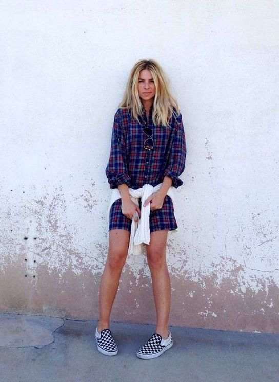 Checkered Vans Slip On Sneakers Street Style Blogger Style Sincerley Jules Look De Pernille ...